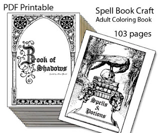 Quirky Artist Loft: 2 Printable Spell Books