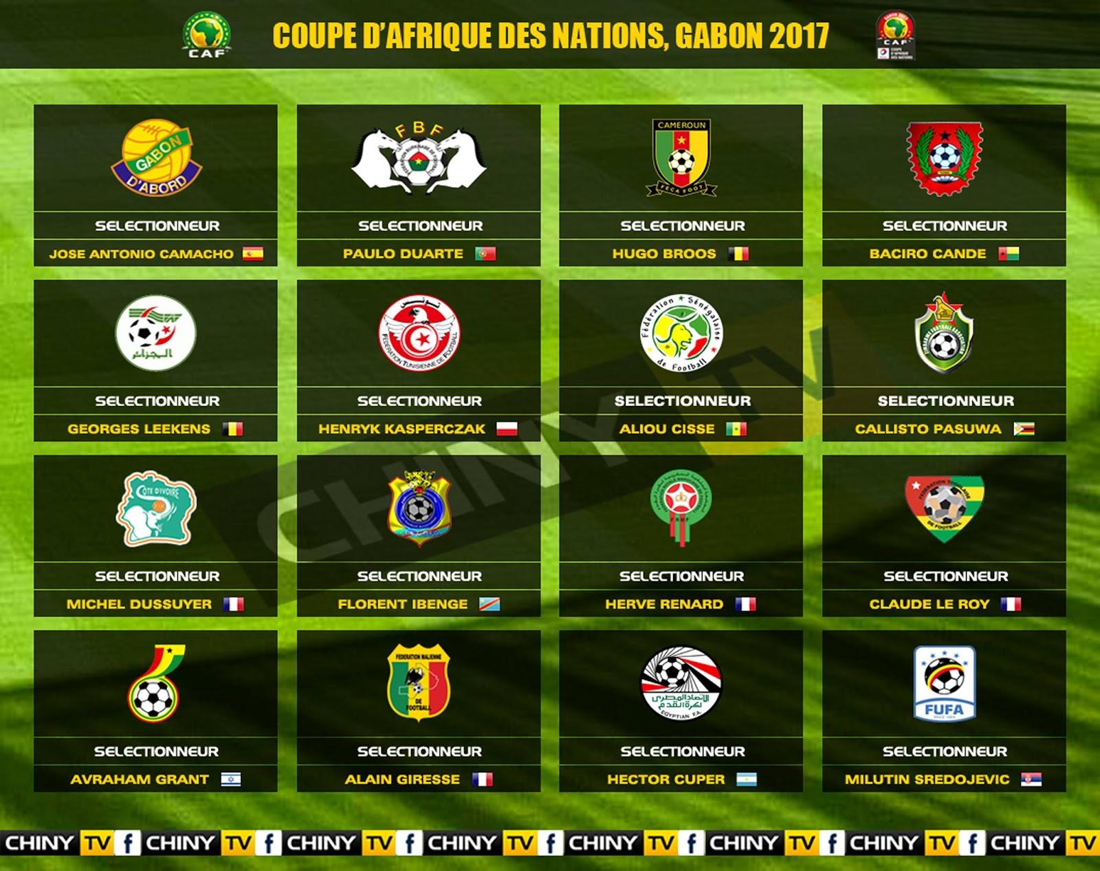 Caf coupe d 39 afrique des nations 2017 le programme les - Prochaine coupe d afrique des nations ...