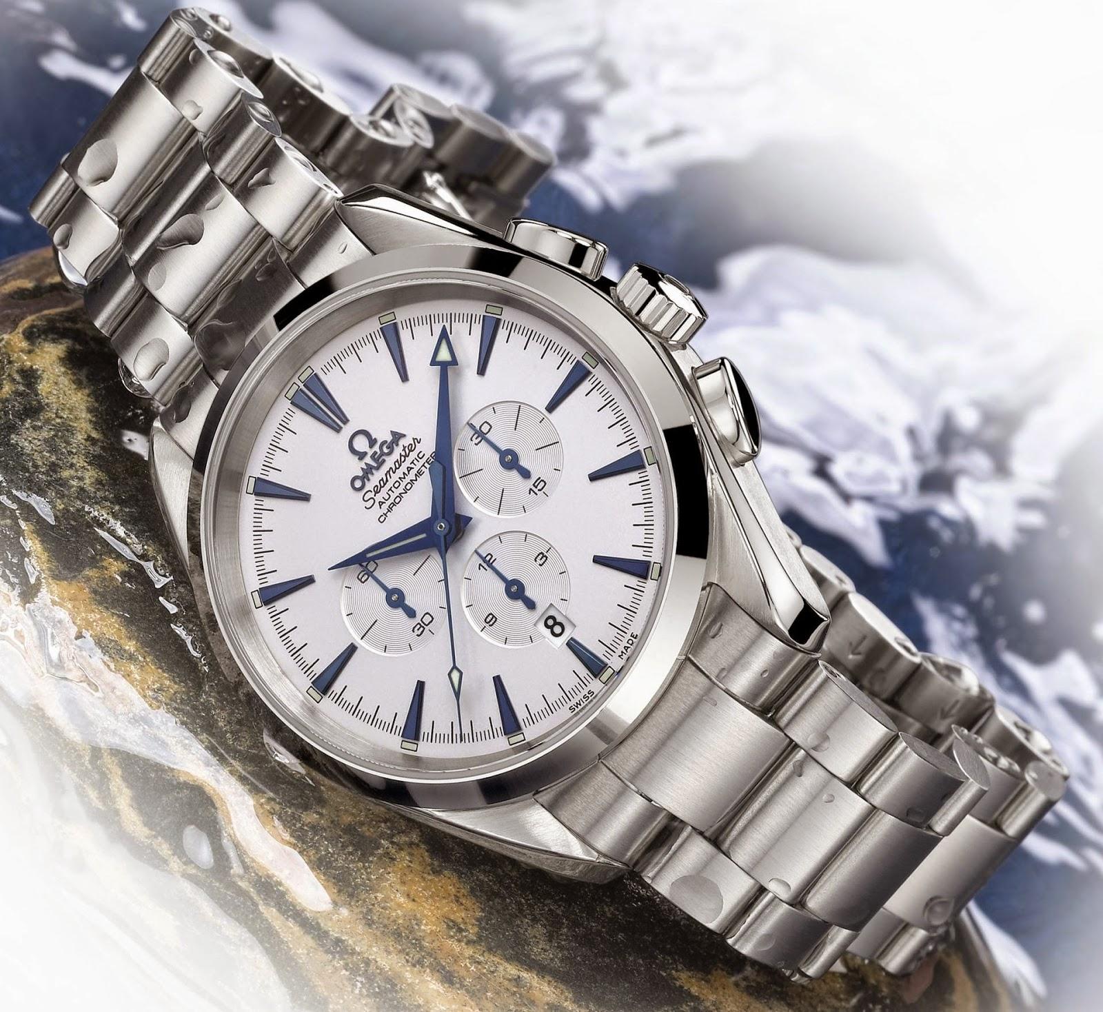 Omega Seamaster Aqua Terra Chronograph with stainless steel bracelet