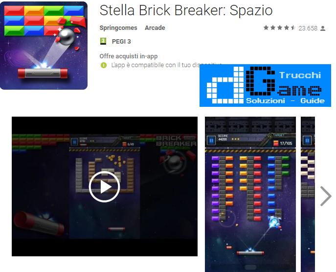 Trucchi Stella Brick Breaker: Spazio Mod Apk Android v3.0