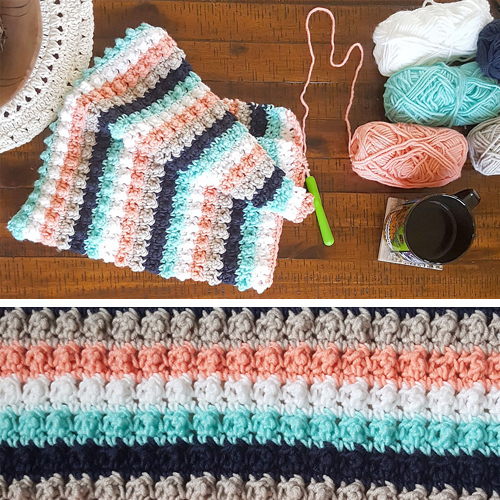 Ever So Striped Crochet Baby Blanket - Free Pattern