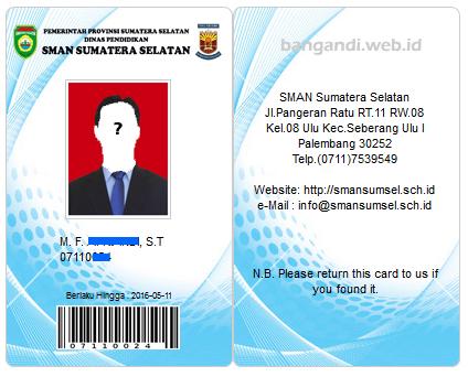 Bangandi Web Id Membuat Member Card Slims Vertikal Portrait