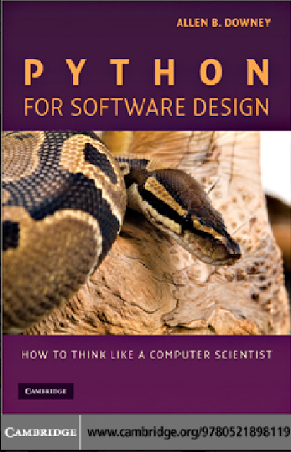 PYTHON FOR SOFTWARE DESIGN BY ALLEN B.DOWNEY