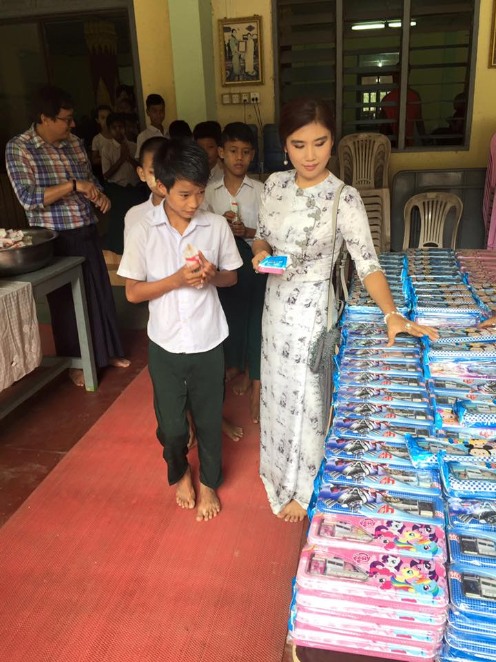 Khine Thin Kyi's Donation At Monastry and Good Deeds On Her Birthday