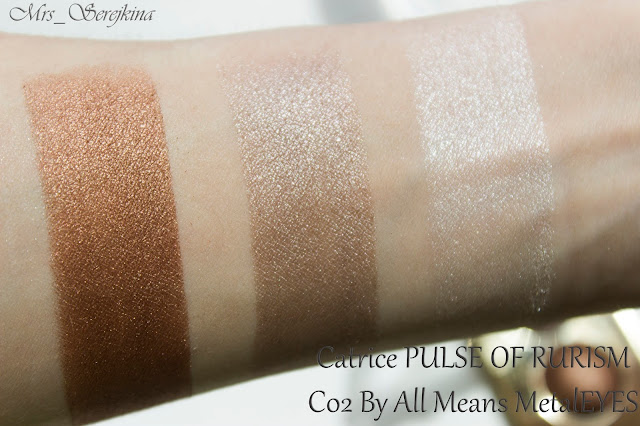 тени Catrice Pulse Of Purism Pure Metal Palette C02 By All Means MetalEYES свотчи
