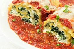 Spinach Lasagna Roll-Up