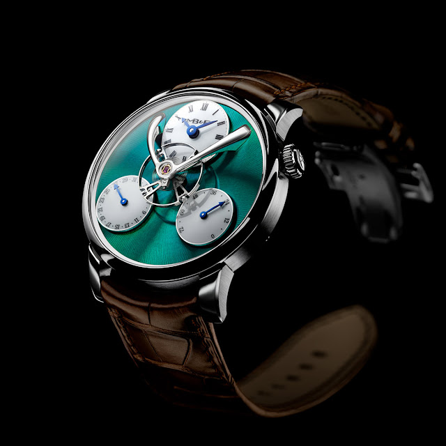 MB&F Legacy Machine Split Escapement Titanium Green