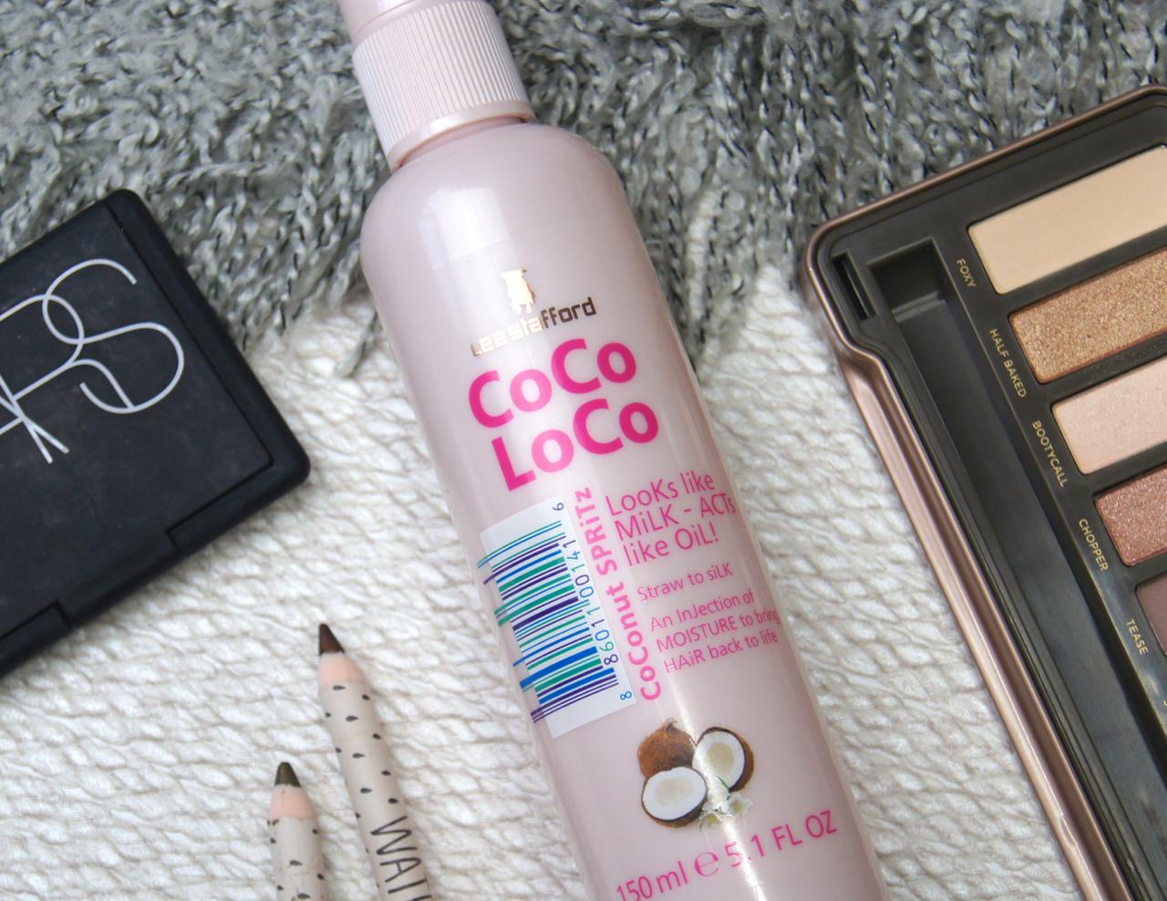 lee stafford coco loco coconut spritz leave in conditioner hair spray review