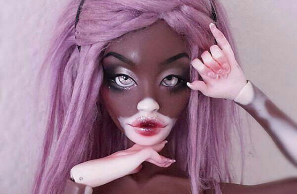 Let's talk about this Winnie Harlow inspired vitiligo doll