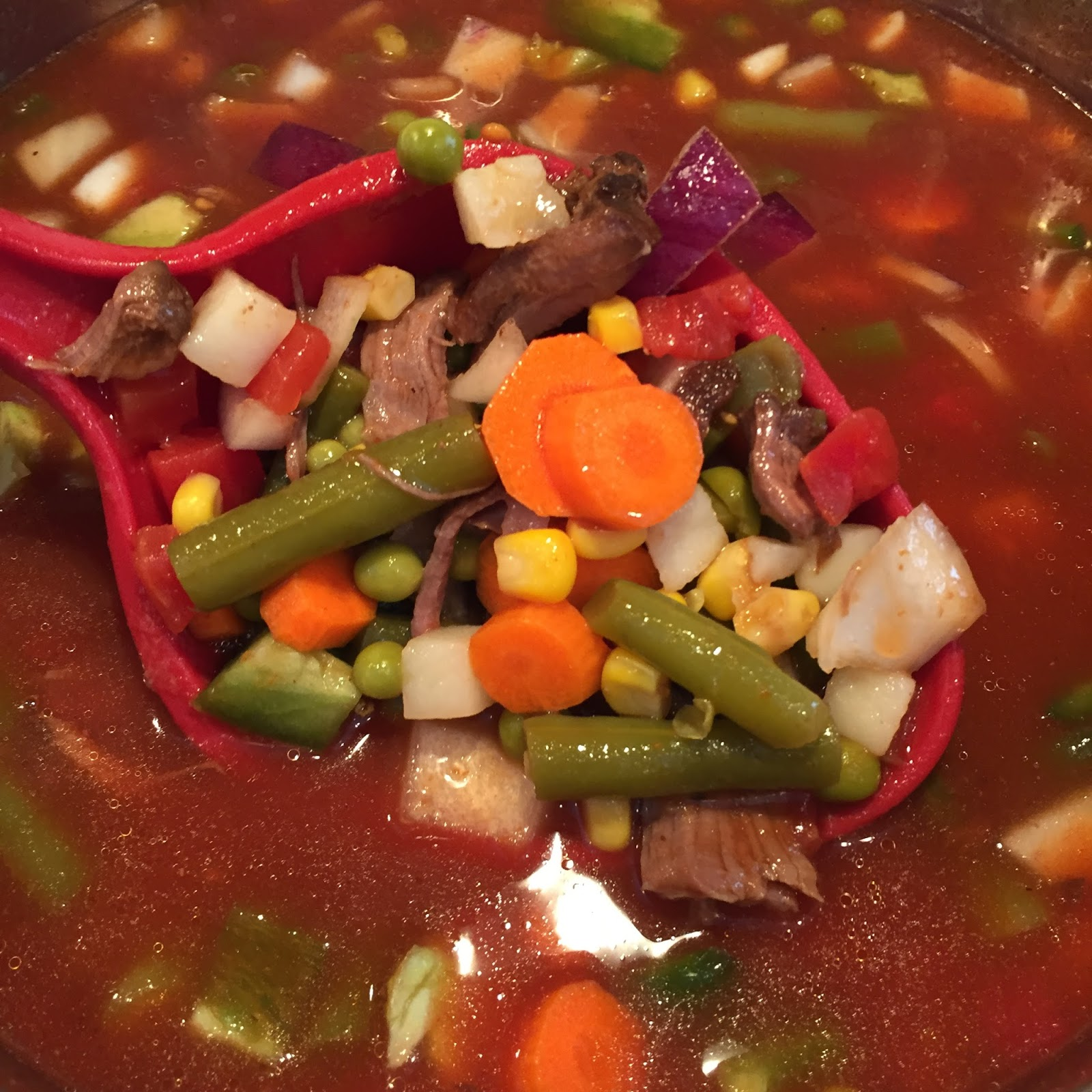 Easy Vegetable Soup: Polka-Dotty Place: Easy Vegetable Soup