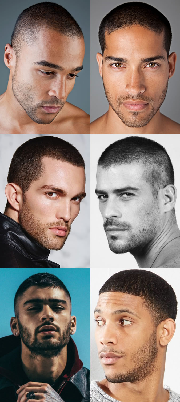 Men Buzz Cuts / Cabeças depiladas e cabelo facial que corresponde