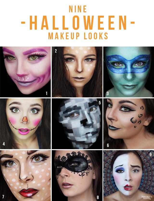 Halloween Looks With Everyday Makeup.The Sorority Secrets 9 Halloween Makeup Looks