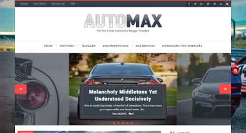 Automax Blogger Template