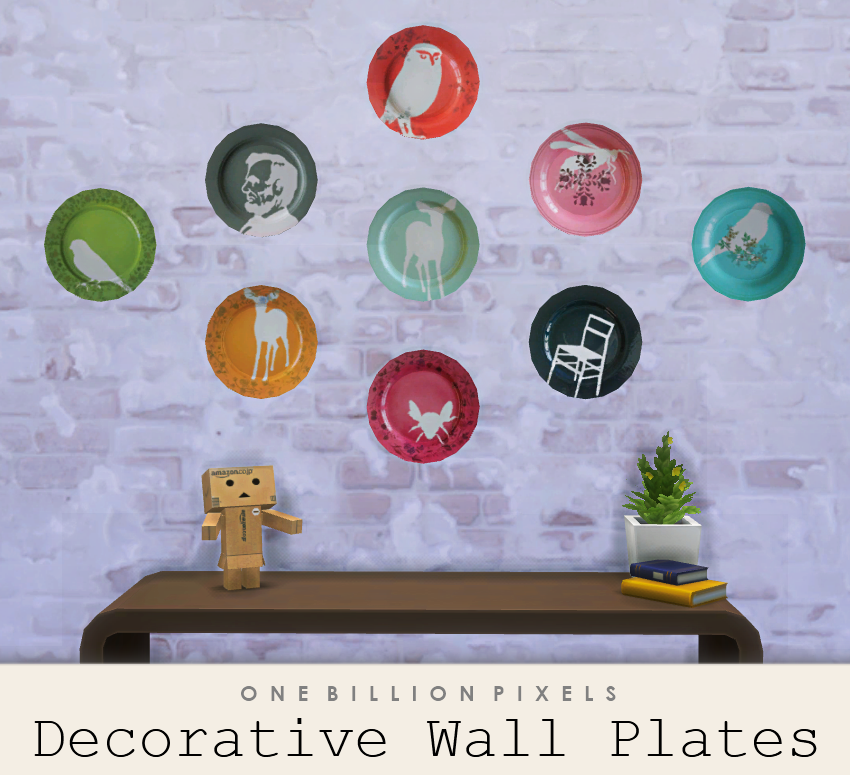 Decorative Wall Plates - One Billion Pixels