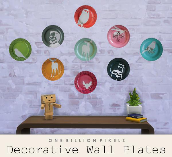 Decorative Wall Plates One Billion Pixels