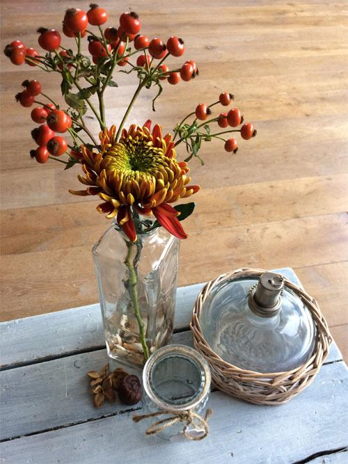 bloemschikken in de herfst