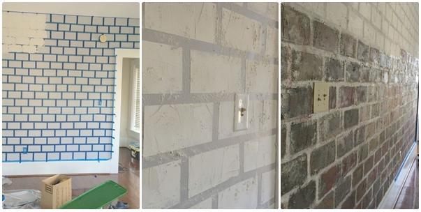 De todo un poco c mo hacer una falsa pared de ladrillos for Pared de ladrillos falsa