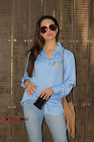 Actress Sana Khan Pos in Denim Jeans Dubbing at Her Upcoming Movie Toilet Ek Prem Katha .COM 0002.jpg