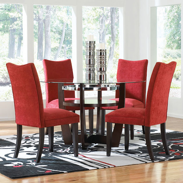 Red Dining Room Table: Interesting Red Dining Room Chairs For Making Cheerful