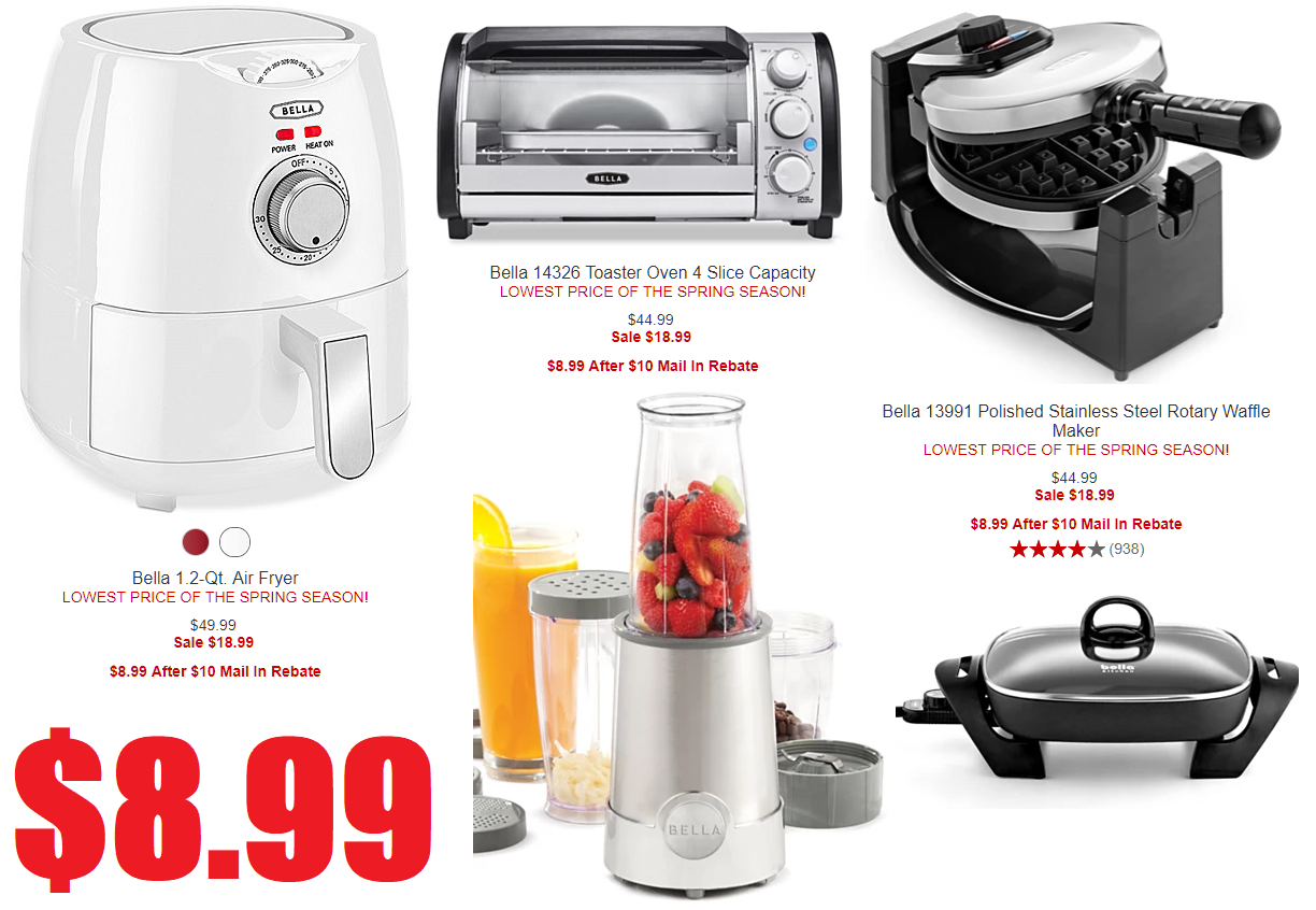 Bella Kitchen Appliances Only $8.99 Each After $10 Rebate ...