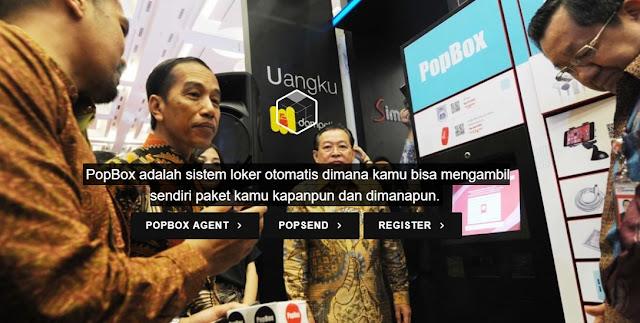 Jokowi mencoba PopBox