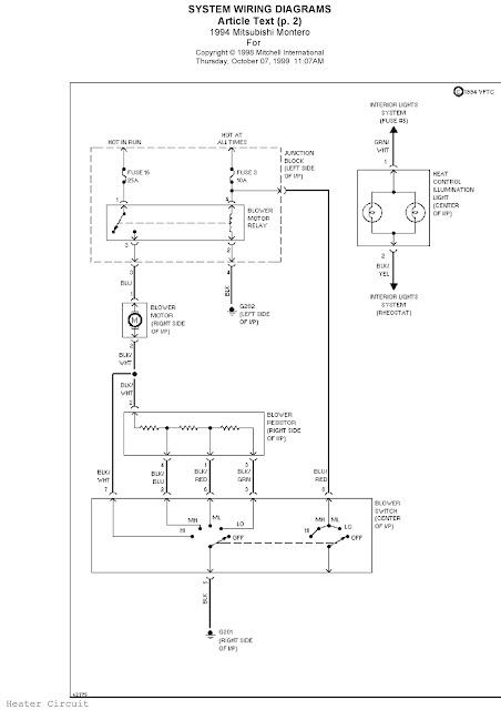 1994 Mitsubishi Montero System Wiring Diagrams Heater