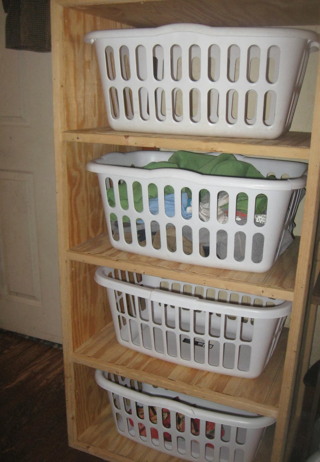 Laundry Basket With Shelves Simply Organized Homemaking Organizing Your Laundry