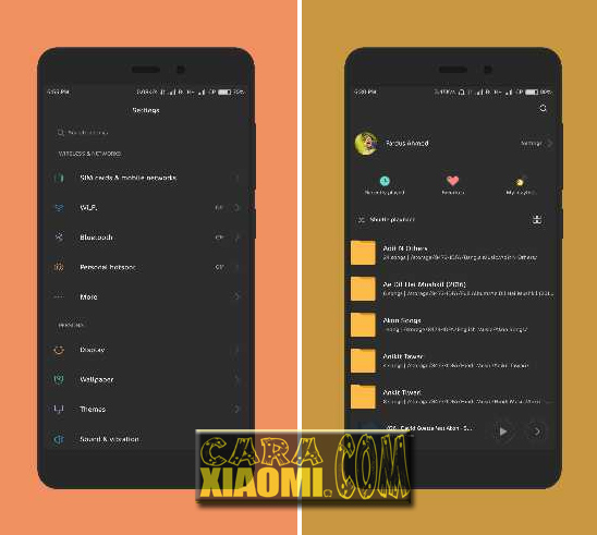 MIUI Theme Space and Dark Reborn