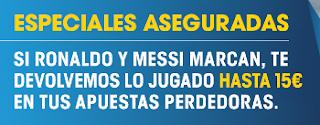 william hill 15 euros sin riesgo el clasico Real Madrid vs Barcelona 23 abril