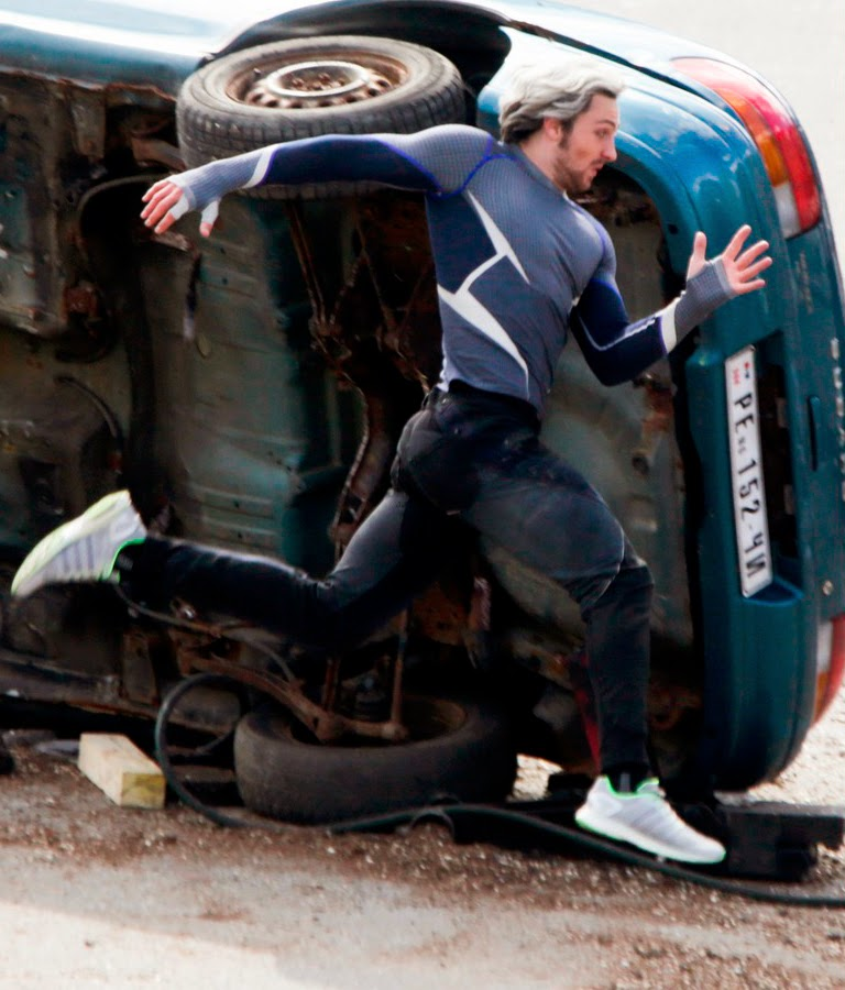 Aaron Taylor Johnson la filmările The Avengers 2: Age Of Ultron
