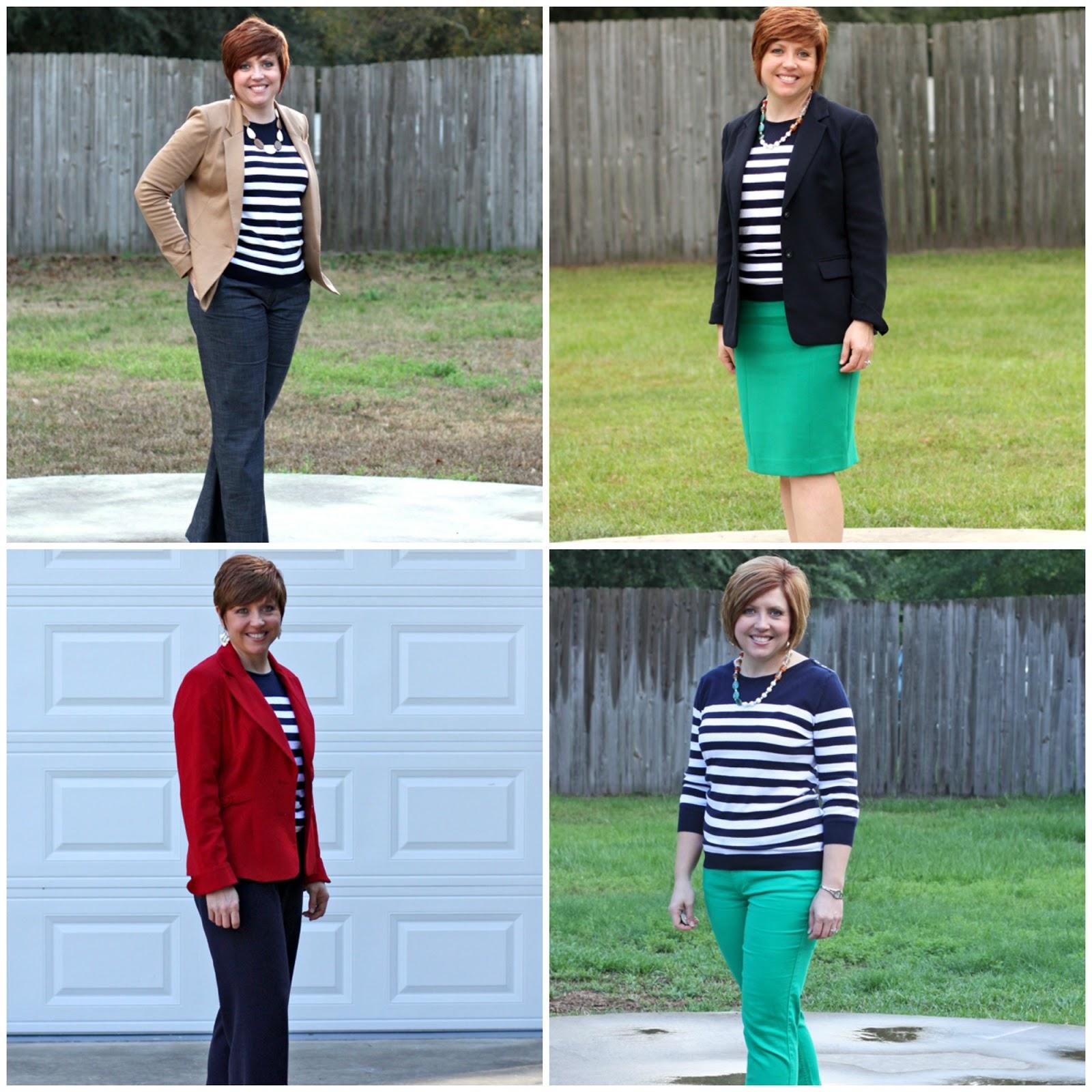 striped sweater four ways