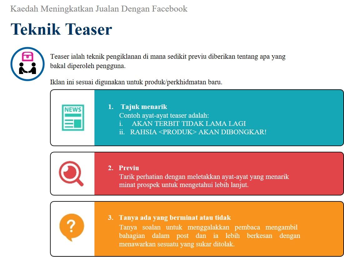 Nota Eusahawan Jenis Jenis Ayat Jualan Fb