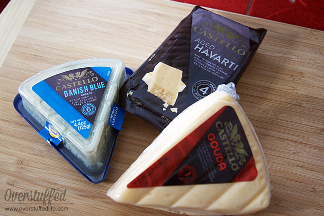 Castello Cheeses: Gouda, Aged Havarti, and Danish Blue