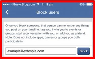 how do i block someone on facebook iphone