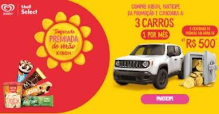 Cadastrar Promoção Kibon Shell Select Temporada Premiada Verão 2018 2019
