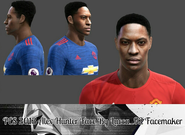 PES 2013 Alex Hunter face by Lucca_92