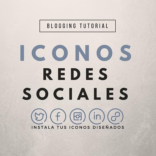 Instala tus iconos de redes sociales diseñados
