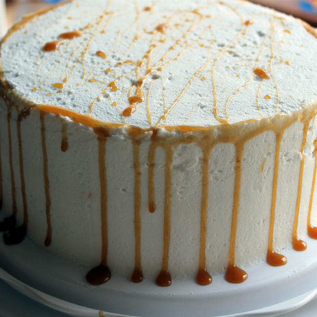Chocolate Cake with Caramel Sauce: Butter with a Side of Bread