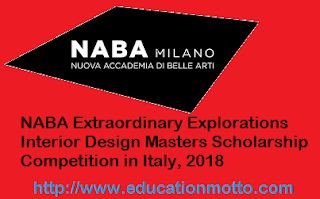NABA  Masters Scholarship 2018, Description, Application Deadline, Eligibility Criteria, Method of Applying:, English Requirement, Introduction:,