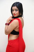 Aasma Syed in Red Saree Sleeveless Black Choli Spicy Pics ~  Exclusive Celebrities Galleries 037.jpg