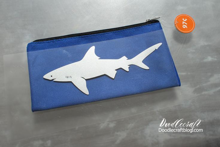 Doodlecraft Shark Pencil Case Back To School Fun
