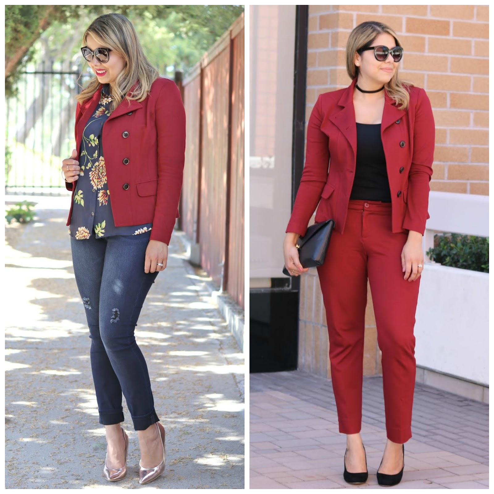 cabi fall 2016, cabi red outing blazer, cabi ava trousers, cabi daisy top, cabi blogger, fall 2016 fashion