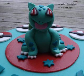 Bulbasaur sockerpasta figur