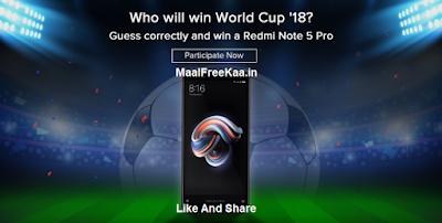 Free Redmi Note 5 Pro