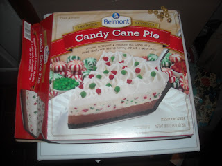 A box of Belmont Candy Cane Pie, from Aldi
