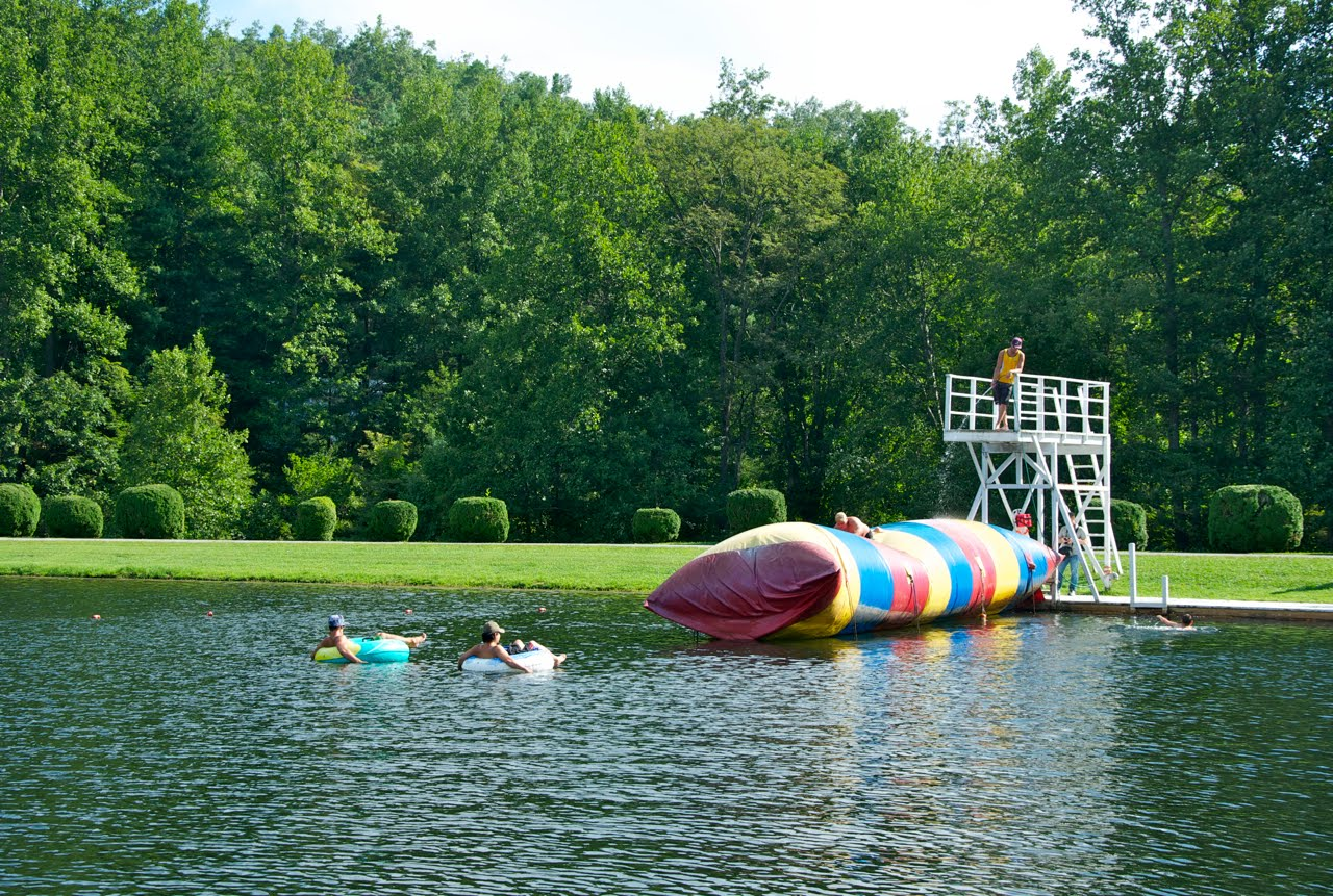"""Camp Our Time: Day 4: More fun at the Lake! Meet """"the Blob!"""""""