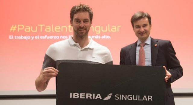 Iberia ficha a Pau Gasol como embajador