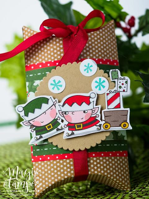 Boites oreillers Stampin' Up! de Noël