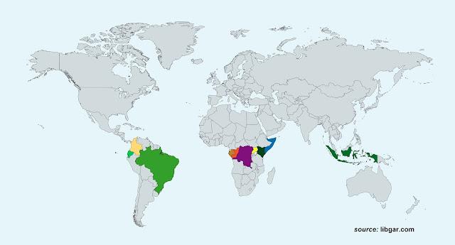 Peta Negara-negara Khatulistiwa