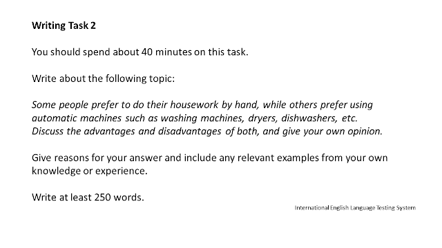 IELTS WRITING TASK 2 ESSAY HOUSEWORK